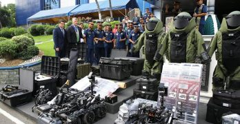PNP receives EOD kits, robots from US