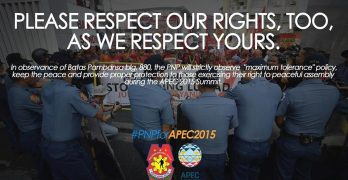 PNP to protesters: Please respect our rights, too