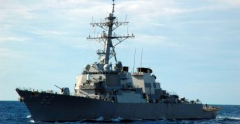 USS Fitzgerald in Manila Bay providing 'general support' for APEC