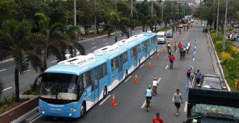 LOOK: Hybrid Electric Road Train test run in Manila