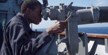 US Navy landing ship patrols West Philippine Sea