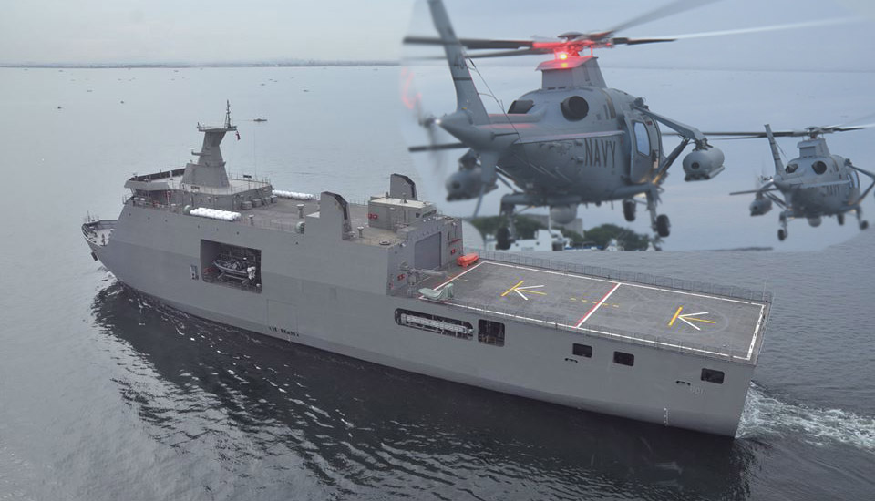 Helicopter Deck Landing Training On Brp Tarlac Set