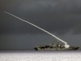 160918-N-BB269-036 PHILIPPINE SEA (Sept. 18, 2016) The Wasp-class amphibious assault ship USS Bonhomme Richard (LHD 6) fires a Sea Sparrow missile during a missile exercise during Valiant Shield 2016. Valiant Shield 16 is a biennial, U.S.-only, field training exercise (FTX) with a focus on integration of joint training among U.S. forces. Germantown, part of the Bonhomme Richard Expeditionary Strike Group with embarked 31st Marine Expeditionary Unit, is participating in Valiant Shield in an effort to increase naval integration and joint capabilities in the event of conflict, contingency, or disaster relief. (U.S. Navy photo by Mass Communication Specialist 2nd Class Raymond D. Diaz III/Released)