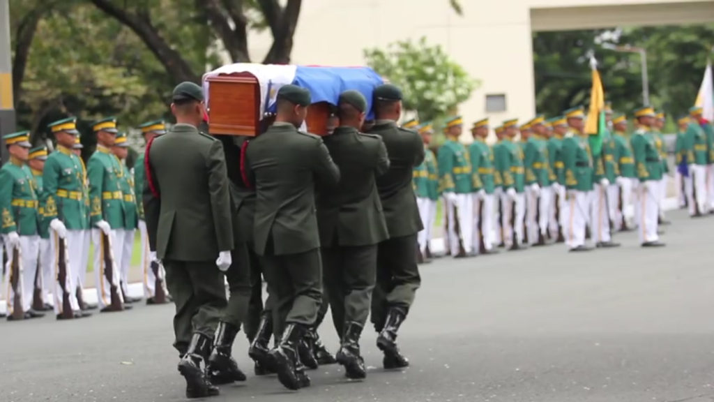 watch  burial of former president marcos at heroes