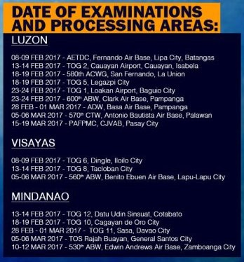 Philippine Air Force opens 2017 recruitment for airmen, officers ...