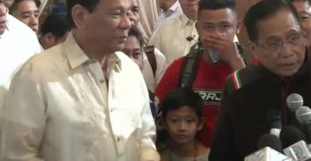 Duterte presents freed 8-year-old ASG kidnap victim