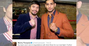 Manny Pacquiao, Amir Khan agree to fight in April
