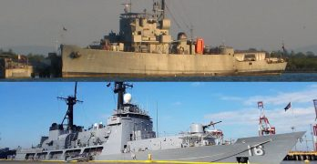 2 Navy warships from Benham Rise dock at Poro Point