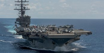 LOOK: US orward-deployed aircraft carrier patrols Western Pacific