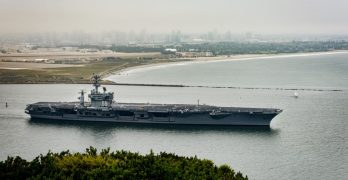 US Navy carrier strike group enters US 7th Fleet area of operations