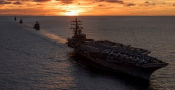 LOOK: US strike group holds live-firing at sea