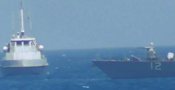 US patrol ship fires warning shots at Iranian vessel