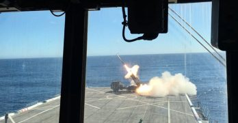 US fires HIMARS from the flight deck of warship
