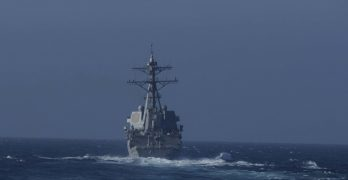 US warship sails close to Chinese-controlled features in South China Sea