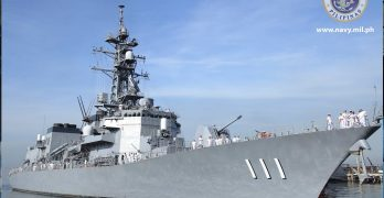 PHOTOS: Japanese destroyer welcomed by Philippine Navy