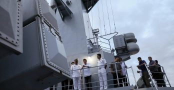 PHOTOS: Duterte visits Chinese-made Pakistan frigate
