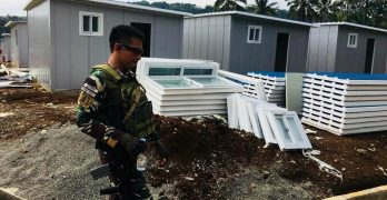 LOOK: Transitional shelters being readied in Marawi City