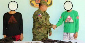 NPA members surrender with M14, AK47 rifles