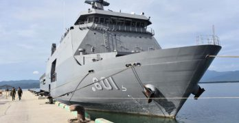 Navy's first landing dock vessel arrives in Palawan