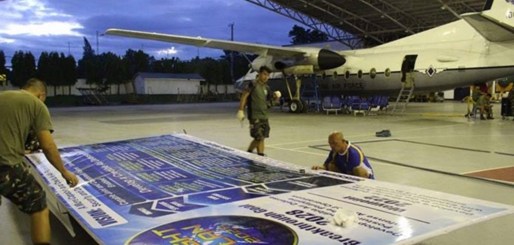 Philippine Air Force Unveils Largest Version Of Strategy Map