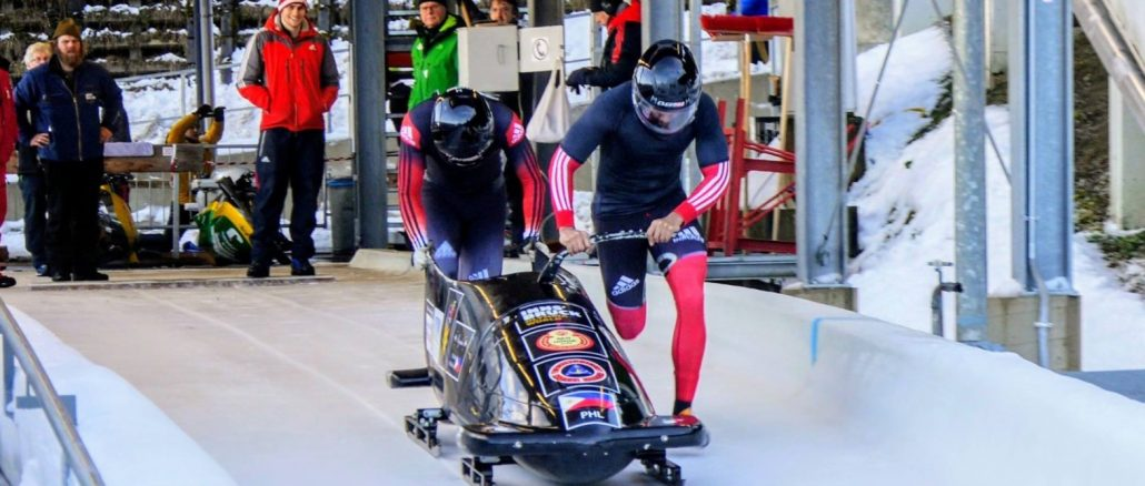 Two Philippine Coast Guard (PCG) personnel made their international debut as the first bobsledders of the Philippines and Southeast Asia