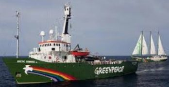 """The Greenpeace ship dubbed """" Rainbow Warrior """" will visit this city for the first time"""