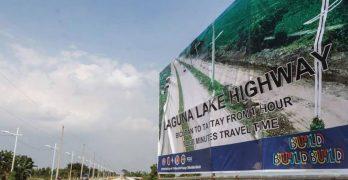 Laguna Lake Highway now open to public