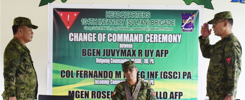 Westmincom installs new military chief in Basilan