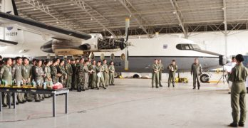 The Blessing Ceremony of a newly maintained and painted Nomad aircraft of the Philippine Air Force